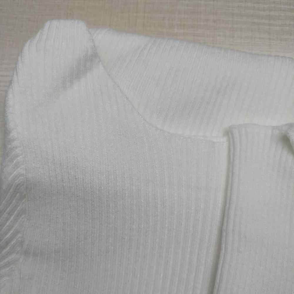 Gkfnmt 여성 풀오버 스웨터 2020 가을 겨울 터틀넥 뜨개질 섹시한 중공 숄더 캐쥬얼 여성용 탑스