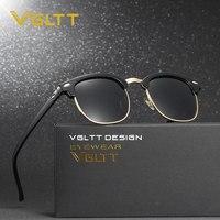 VGLTT Brand Designer Polarized Rayed Men Sunglasses Mirror Sun Glasses Cat Eye Women UV400 Half Rims