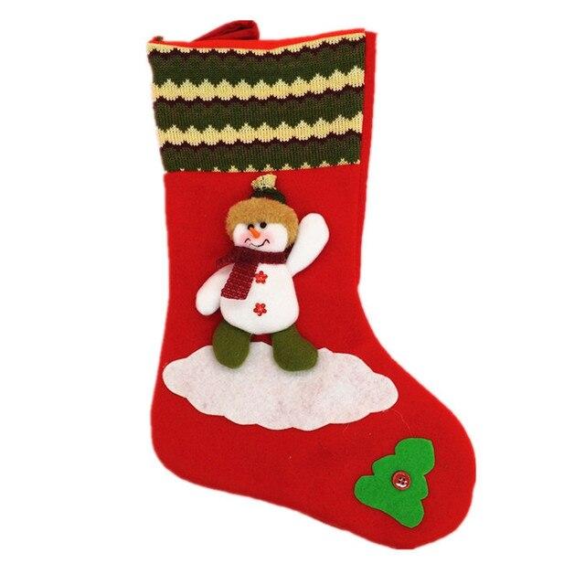 big christmas stockings hand making crafts children candy gift bag santa bag the old man snowman - Big Christmas Stockings