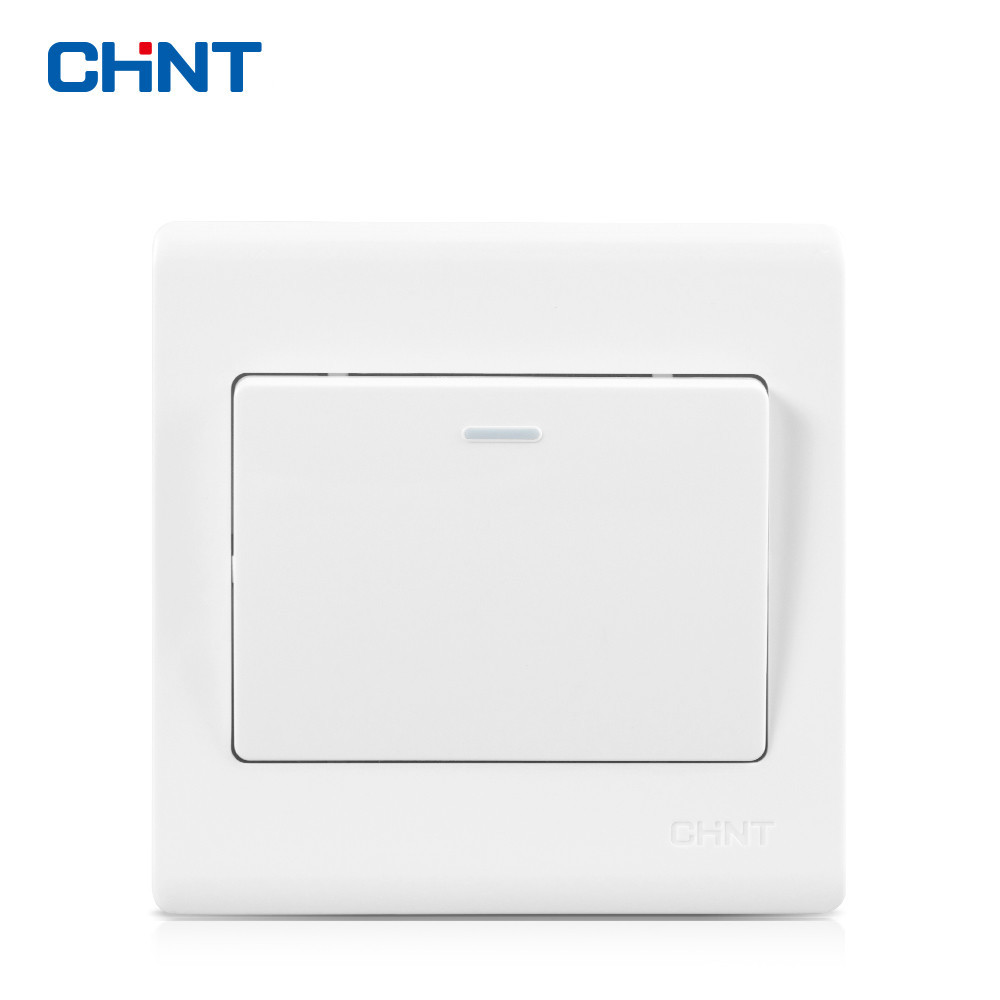 CHNT 86 Type Wall Switch Panel NEW7D Elegant White One Gang Way