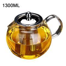 650 мл, 960 мл, 1300 мл, термостойкий стеклянный чайник, цветочный чайный набор, чайник, кофейник, посуда для напитков, набор, ситечко из нержавеющей стали