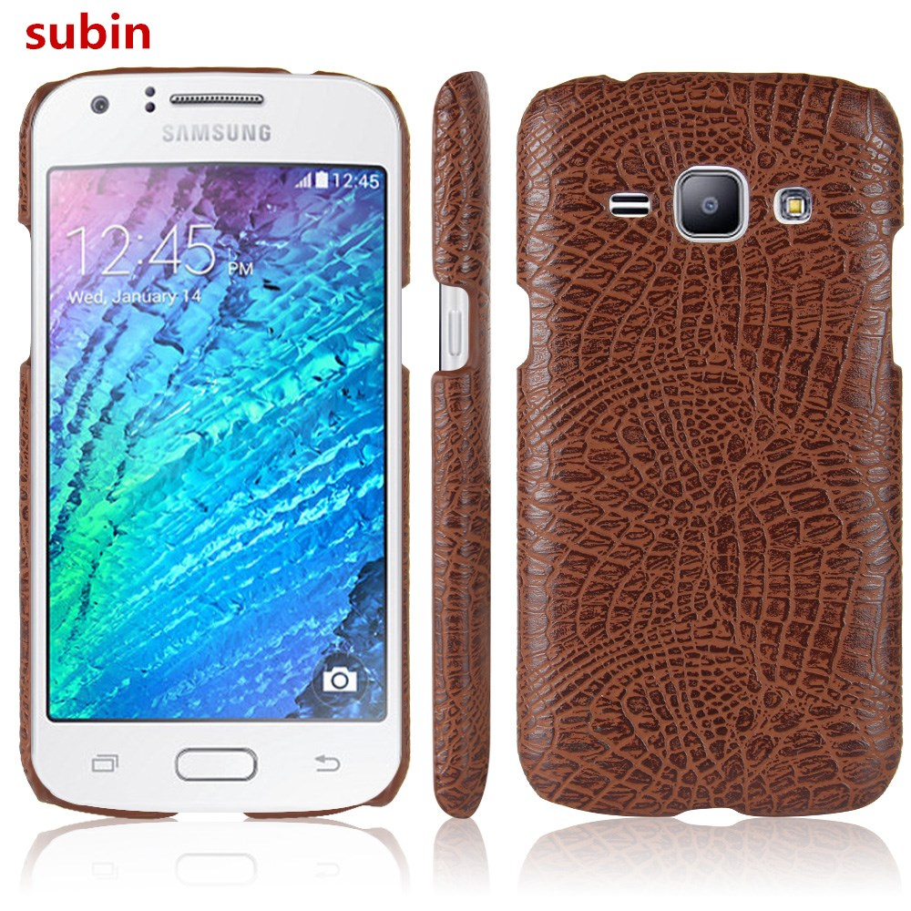 For Samsung Galaxy J1 J100F J100FN <font><b>J100H</b></font> J100MU Case Retro Crocodile Skin Cover For Samsung Galaxy J1 Duos Phone Bag Case image