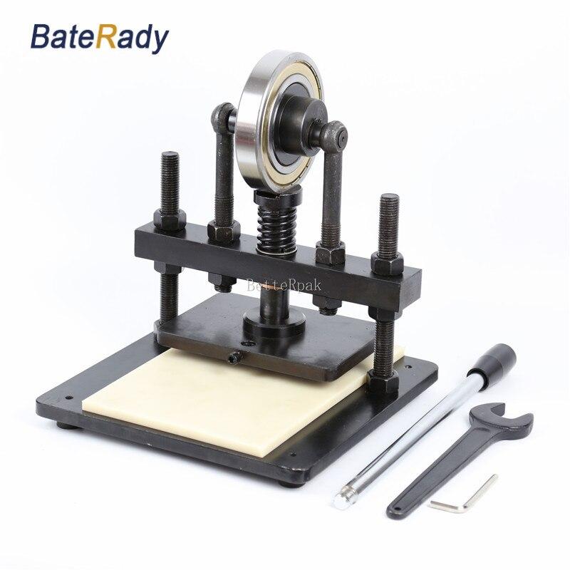 20x14 cm BateRady Main pression d'échantillonnage machine, papier photo, PVC/EVA feuille moule cutter, manuel en cuir moule/Die machine de découpe