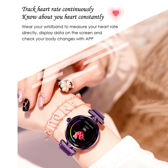 LEMFO 2019 New Luxury Smart Watch Women Sport IP67 Waterproof Bluetooth For Android IOS Iphone Smartwatch Gift For Girlfriend