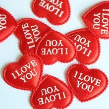 Corazón de tela de 100 Uds. De diámetro, 3,5x2,5 cm, Love you confeti para fiesta de boda, decoración de mesa, artículos decorativos para fiestas de cumpleaños