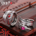 Beier 925 стерлингового серебра ювелирных изделий 2015 мода характеристика открытие кольцо малый и большой красный и розовый цвет BR925K013