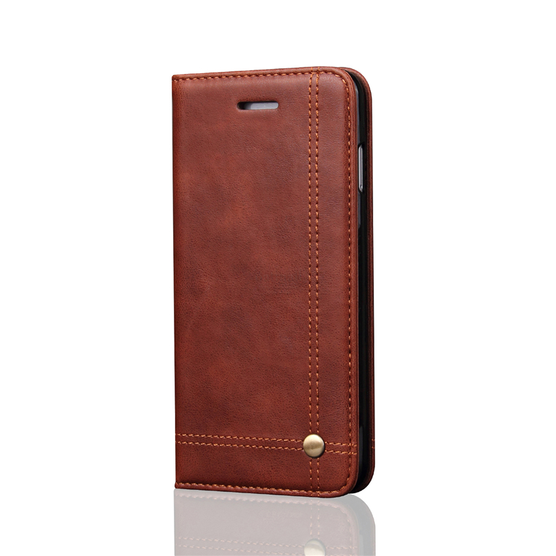 Retro Slim Leather Flip Cover For Iphone 8 Case Wallet Card Slot Stand Magnetic Book Cover For Iphone 7 6 6S Plus Cases