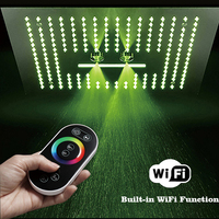 64 Color LED Light Bathroom Shower Head Remote Control Concealed Ceiling Shower Rainfall Waterfall Misty Bulit In WIFI Function
