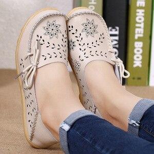 shoes woman flats genuine leat