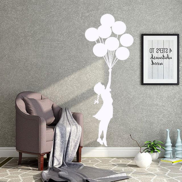 Palloncino ragazza dipinte A mano intagliato adesivi murali Camera ...