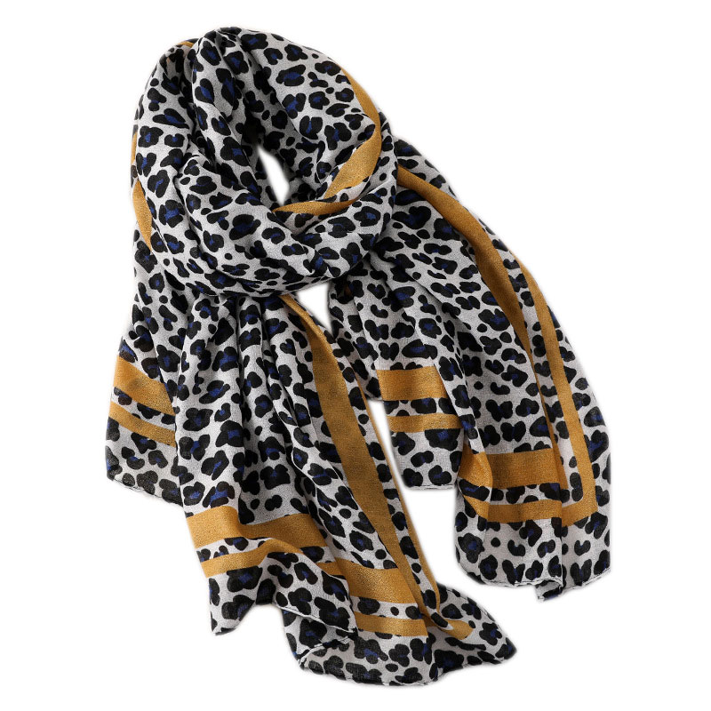 2019 luxury brand Cotton linen women   scarf   fashion quality soft Winter leopard   scarves   female shawls cover-ups   wraps   bandana