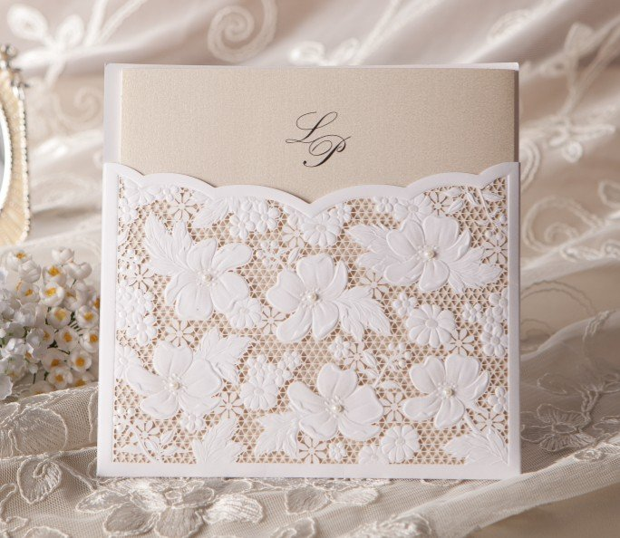 Luxury laser cut wedding invitations hollow customised birthday luxury laser cut wedding invitations hollow customised birthday invitations w1101 bridal shower invites free shipping in event party from home garden on stopboris Image collections