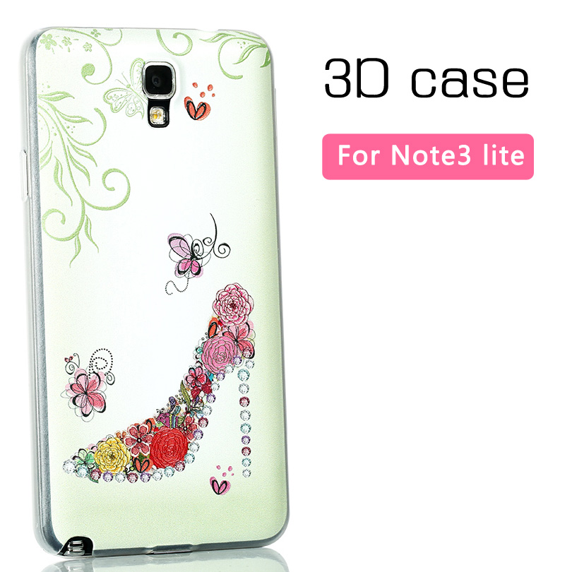 3D case Samsung GALAXY Note 3 Lite neo N7505 N7506V N7508v n750 back cover painted matte ultra thin hard - Mobile phone's lover store