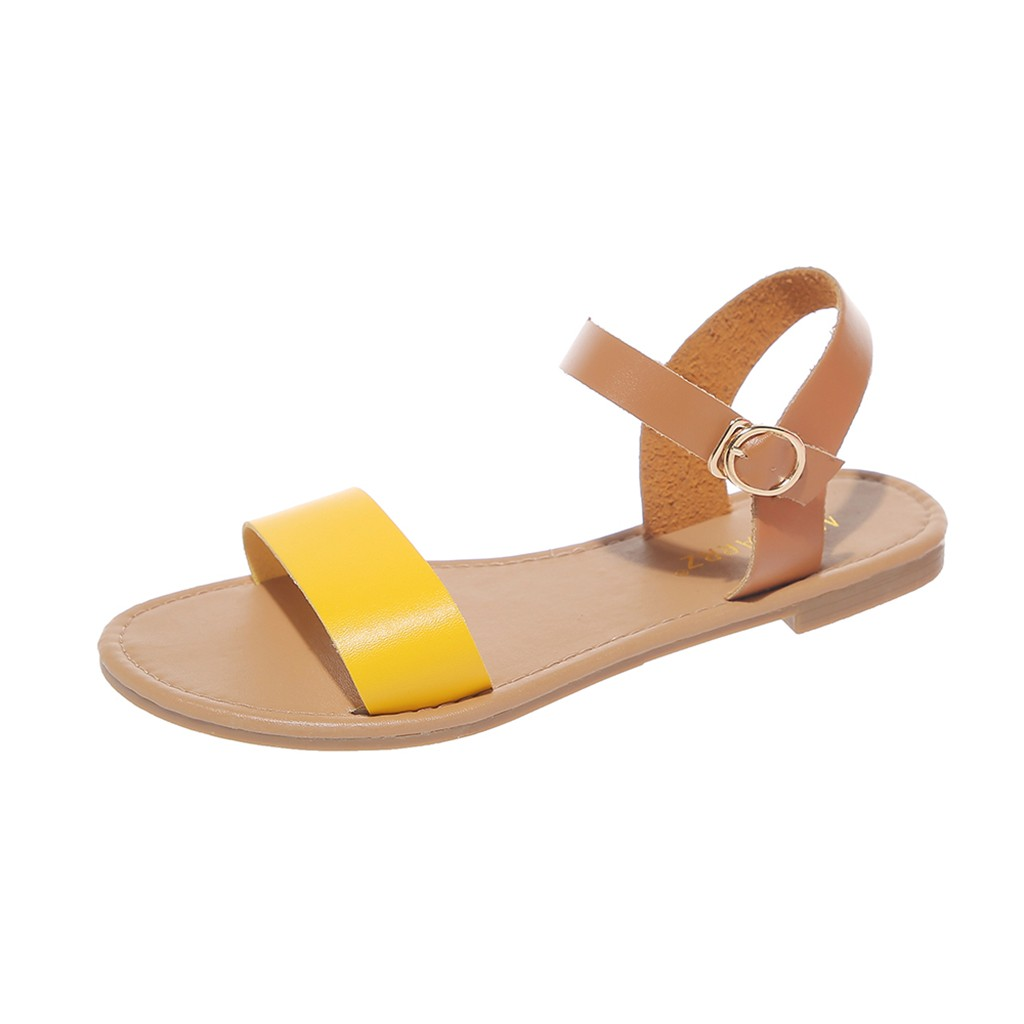 HTB1pphtQCzqK1RjSZFHq6z3CpXa4 SAGACE Women's Sandals Solid Color PU Leather Sandals Women Fashion Style Flat Summer Women Shoes Women Shoes 2019 Sandals 41018