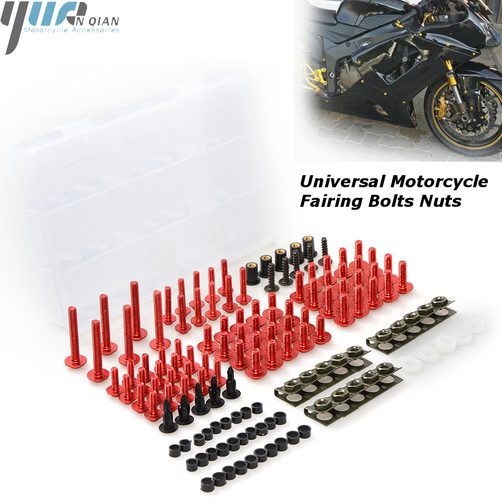 Universal Motorcycle Aluminium Fairing Bolts Spire Speed Fastener Clips Screw FOR BMW S1000R S1000RR 2010 2011 2012 2013 2014
