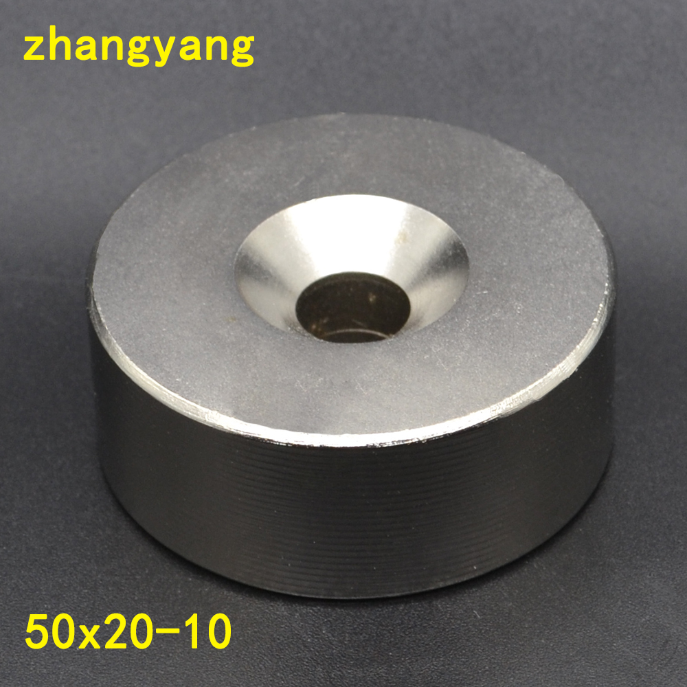 1pcs 50*20mm NdFeB Lifting Ring Magnet Dia. 50x20 mm with M10 Screw Countersunk Hole 10 mm Neodymium Rare Earth Permanent Magnet 200 1000pcs pack ndfeb countersunk magnet dia 10x3 mm thick m3 screw countersunk hole n42 neodymium rare earth permanent magnet