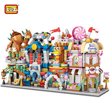 LOZ 2018 Новые мини-Кирпичи Город 3D архитектура строительные блоки конфеты игрушки розничный магазин Loz улица магазин подарки игрушки для детей девочка