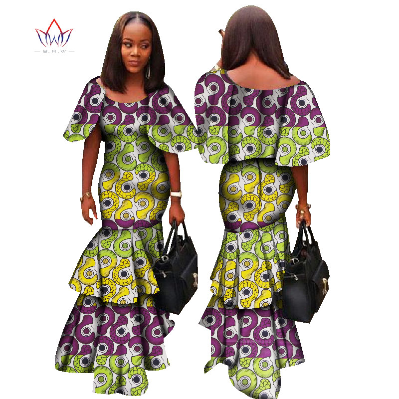 Dresses Objective Fashion Africa Dresses For Women Dashiki Sxey Elegant Traditional African Clothing Plus Size Long Dress For Lady Wy1331