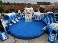 Дешевые прочный ледяной мир надувной аквапарк горки для взрослых и детей