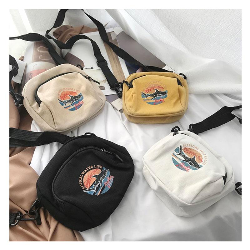 Mini ženske torbice platnene torbice majhne platnene ramenske - Torbice - Fotografija 6