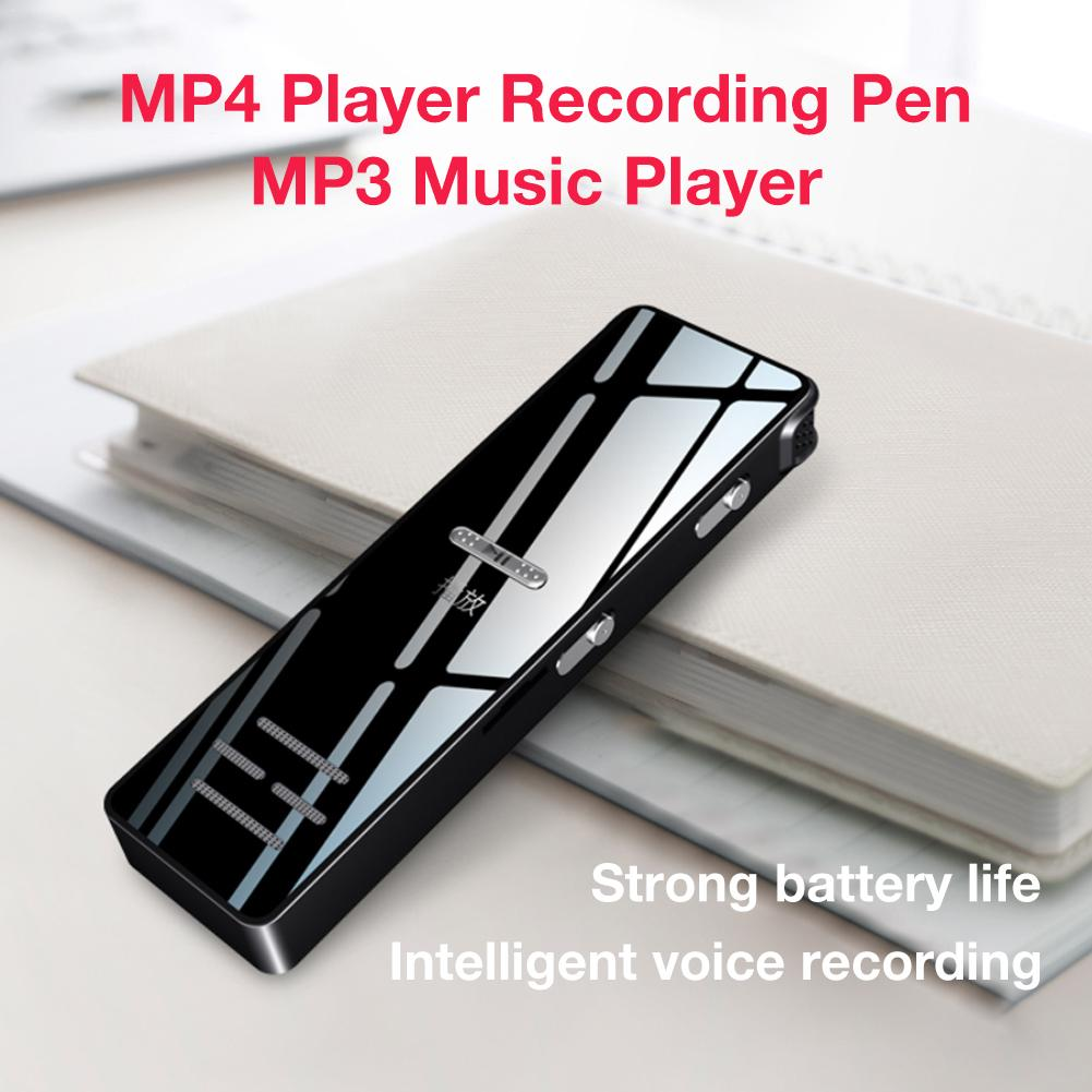 MP3 Player Recording Pen MP3 Music Player With Screen Card Mini Sports Running Portable Media Slim 1 Inch For Sports Relax