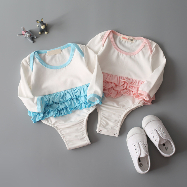 Baby Girls Long Sleeve Rompers Newborn Infant Baby Girl Romper autumn Spring Clothing Jumpsuit Outfits princess ruffles Clothes