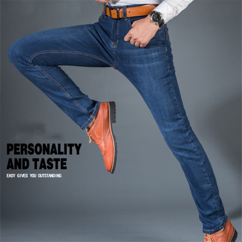 Mens Jeans Stretch Slim Denim Casual Jeans Summer Autumn High Quality Pantalon Tejano Pitillo Hombre Plus Size 28~40