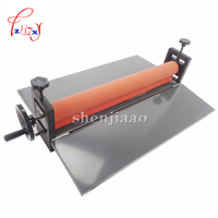 NEW Heavy 25 Manual Laminating Machine Photo Vinyl Protect Rubber Cold Mounting Laminator Office Equipment