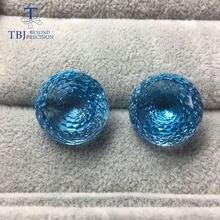 Женские круглые серьги гнезда tbj ювелирные украшения с натуральным
