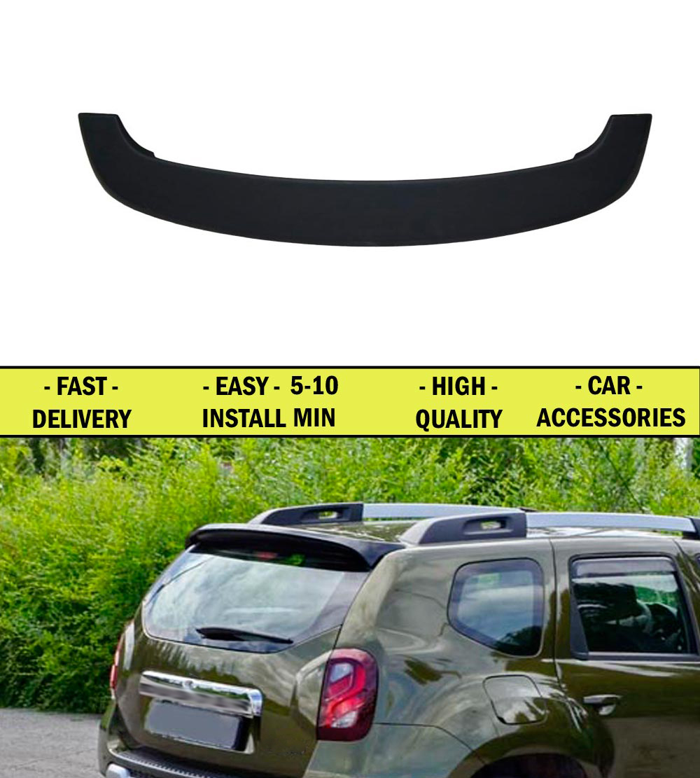 Spoiler for Renault Duster 2010-2014 FL 2015-2016- ABS plastic decor design sports styles car accessories car styling yandex w205 amg style carbon fiber rear spoiler for benz w205 c200 c250 c300 c350 4door 2015 2016 2017