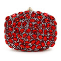 Lady Crystal Heart Designer Clutch Chain Evening Bag Rhinestone Bridal Wedding Party Purse Colour Pochette Bolsas Mujer XA1774C