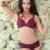 2016 mulheres Bra Set feminino Sexy Seamless sutiã e calcinha Set Plus Size moda Push Up profundo decote em V Bra Lingerie cor sólida