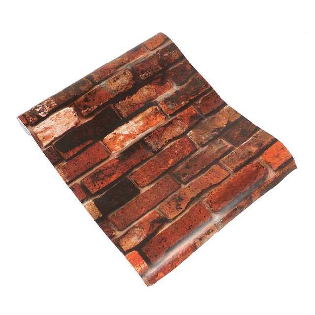 Online Shop Vintage Brick Pattern Contact Paper Self Adhesive Peel