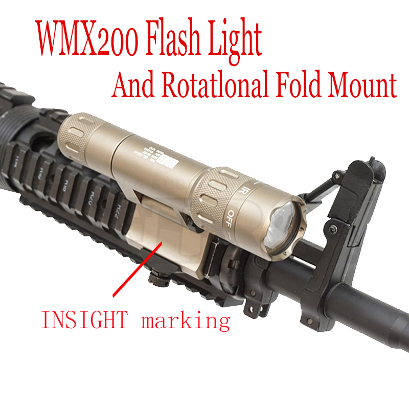 Element Night Evolution WMX200 Flash Light and Rotatlonal Fold Mount For Hunting NE 08036
