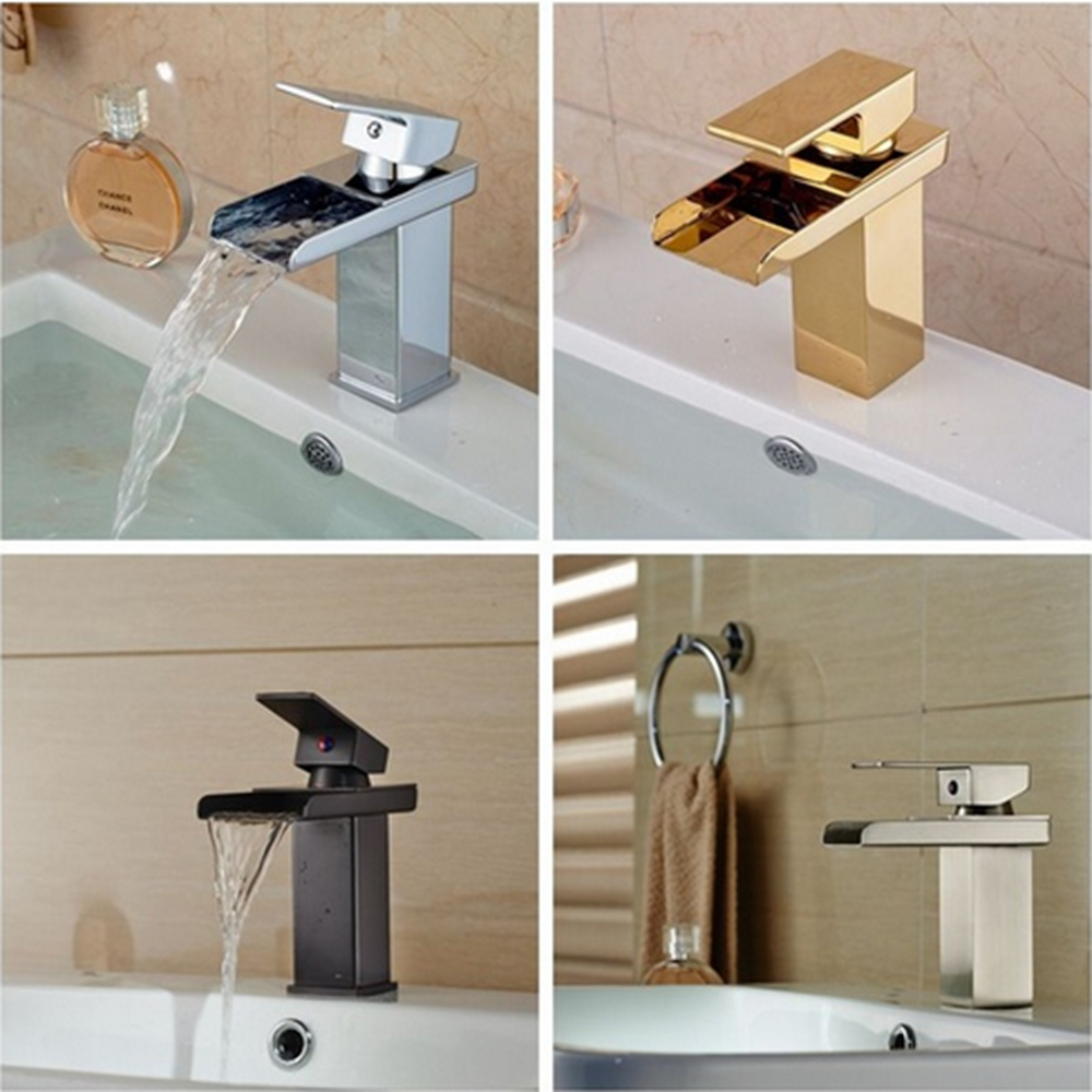 online get cheap modern vanity sinks aliexpresscom  alibaba group - modern us free shipping solid brass waterfall spout bathroom basin faucethot cold mixer tap vanity sink mixer tap