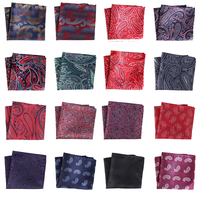 Hotsale Wedding Party Men Silk Handkerchief Pocket Square Plain Pure Color 25
