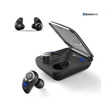 DJYG  Wireless Bluetooth Earphone V4.2 HiFi Stereo Touch Sensor Hands Free Mic Noise Reduction IPx7 Waterproof