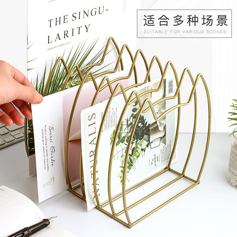 Learned 2019 Promotion Boekenkast Librero Iron Bookshelf Book Table Retaining Board Shelf Retro Folder By Magazine Finishing Metal Bookcases