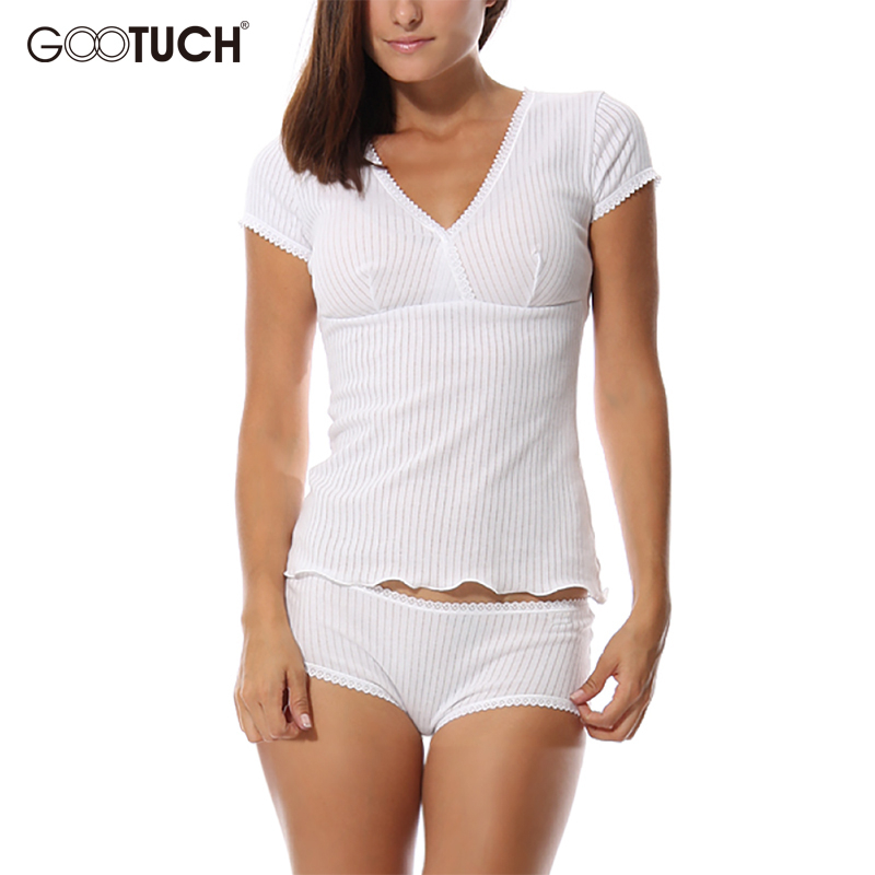 Summer Home Wear Womens Sleepwears Cotton Pajama Set Sexy Lace V Neck Pyjamas Short Sleeves And Shorts Plus Size Underwear 5278