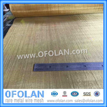 High-quality EMI / EMF RF Shielding Brass Wire Mesh(100 mesh) 1000mmX1000mm stock supply
