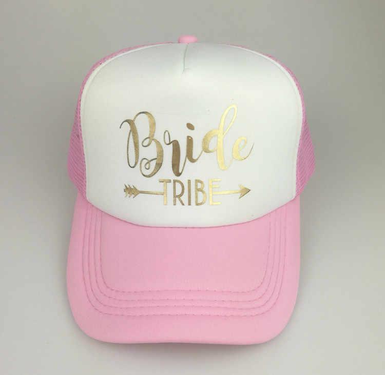 ... C Fung design bride truckers bride tribe hats Gold letter arrow bridal Bachelorette  Party Hat team bride 7fbeae321528