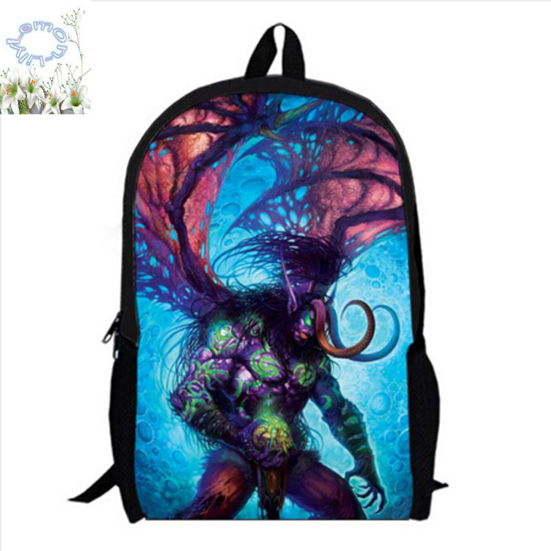 16Inch World of Warcraft Backpack Game Mochila Masculina Double Zipper Bag School Bag Mochila Escolar Teenage Free Shipping A068