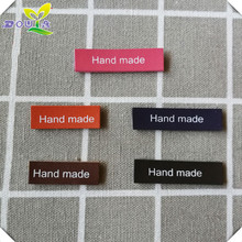 PU leather hand made labels for clothing leather handmade tags print logo leather label for gift tag for handwork sewing label win win logo hand made leather labels for gift sewing win logo hand made tags for clothes gift handmade leather sewing label