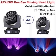 Big Bee Eye 19X15W RGBW 4IN1 LED Moving Head Light Stage Lighting Effect Beam Professional Dj Equipment Disco