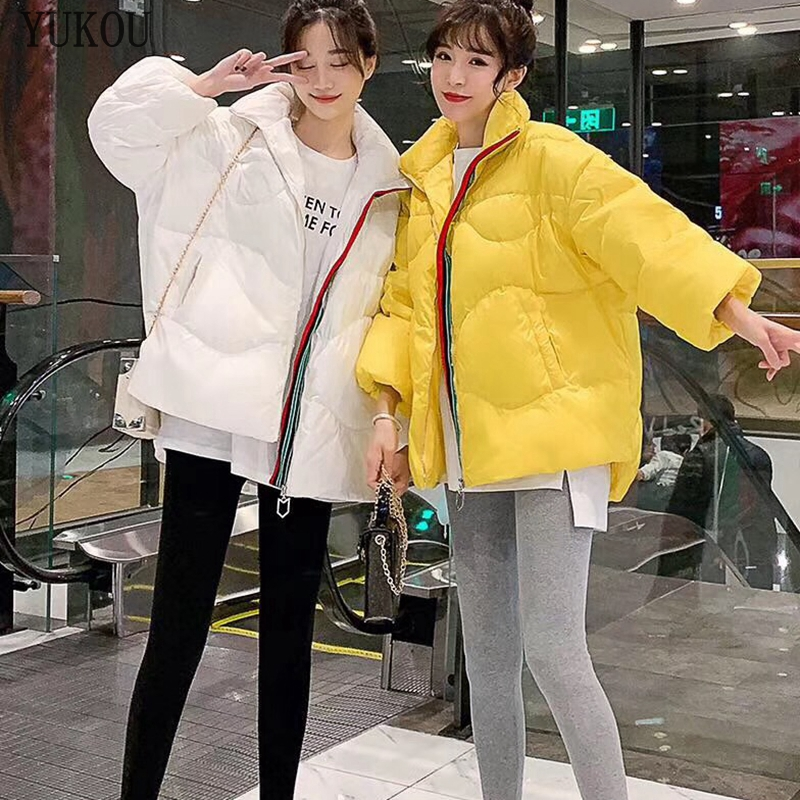 Women Duck   Down     Coats   2019 Fashion Female High Quality White Duck   Down   Jacket Loose Version Various Colors Keep Warm