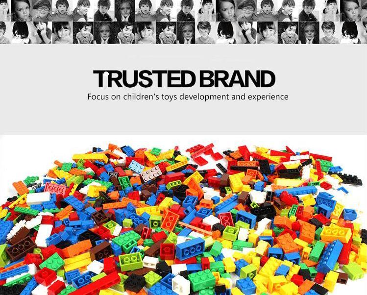 2000Pcs Building Set DIY Creative Brick Kids Toy Educational Building Blocks Bulk Compatible Toys lepin