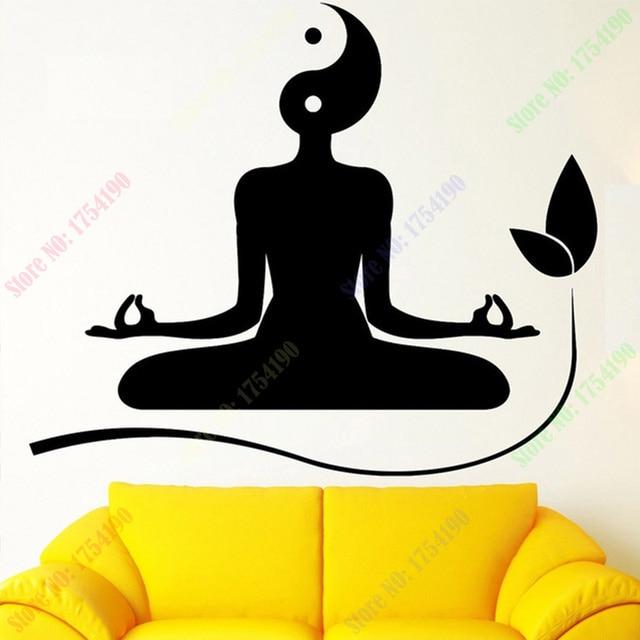 Wall Decal Yoga Meditation Zen Buddhism Yin Yan Vinyl Stickers Art Mural Fitness Sticker Home