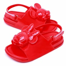 Mini Melissa 2020 New Jelly Sandals 3D Mickey Jelly Sandals Girl Boy Sandals Baby Shoes Melissa Children Shoes Beach Sandals