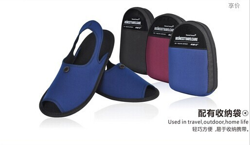 Neoprene Sandal Foldable Slippers With Storage Bag Beach Shoe Bedroom Travel Carry Hotel