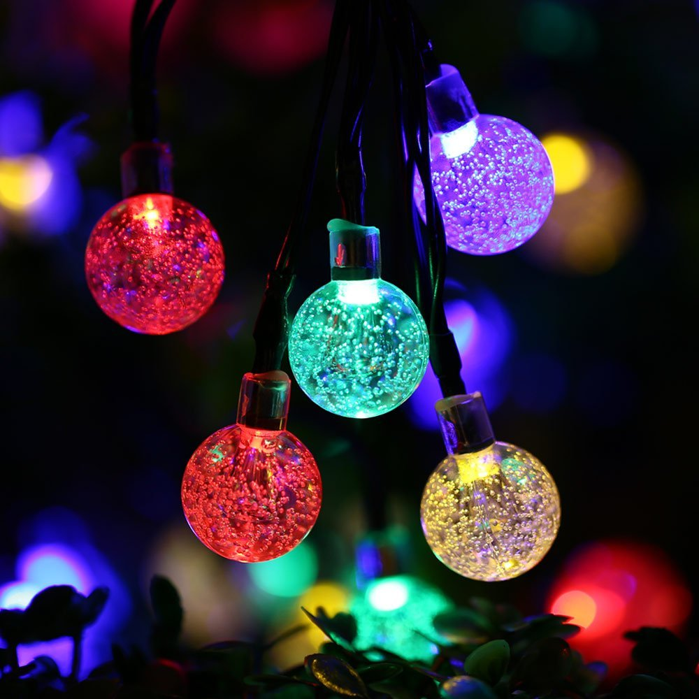 20ft 30 led crystal ball solar powered ledertek brand most popular globe fairy lights for outdoor garden christmas decoration in solar lamps from lights